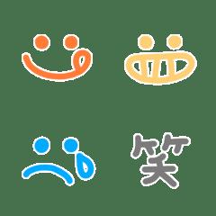 カラフルな基本の顔文字