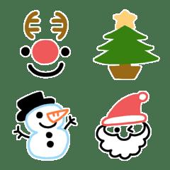 シンプルでかわいいクリスマス絵文字