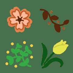 ヨーロッパの刺繍風植物♥️花や葉