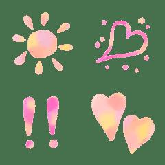 大人可愛い♥️水彩風ハート