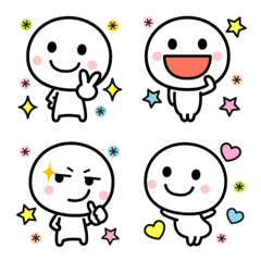 キュートな絵文字の白いやつ☆