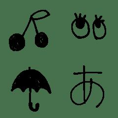 シンプルでかわいい手書き文字(+絵文字)