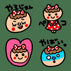 riekimの赤ドット女の子絵文字