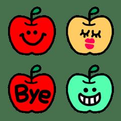 毎日使える★りんごちゃんのシンプル絵文字