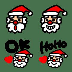 クリスマスに使える★サンタクロース絵文字