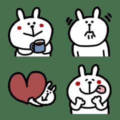 うさじろうの絵文字(シンプルカラー)