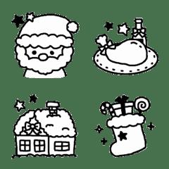 シンプルなクリスマス絵文字