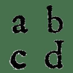 スタンプ風アルファベット(小文字)