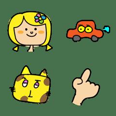 猫と女の子の絵文字