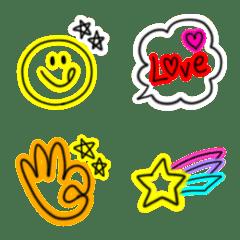 毎日使えるネオン絵文字(6)