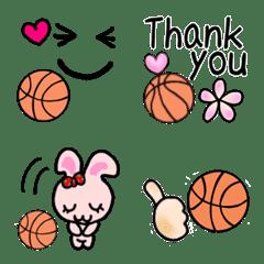 可愛いバスケットボール絵文字♡