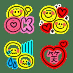 毎日使える♡スマイルネオン絵文字(3)