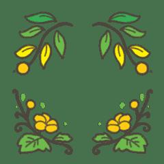 Gold Flowers Emoji