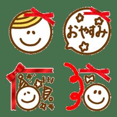 赤色リボン【日常シンプル】