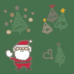 シンプルおしゃれなクリスマス絵文字