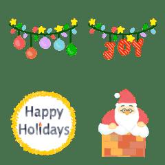 おとなかわいいパステル絵文字クリスマス