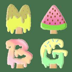 アイスクリームレインボーポップ かわいい