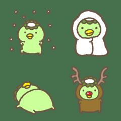 かわいいカッパさんのパステル絵文字(冬)