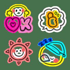 毎日使える♡スマイルネオン絵文字(4)