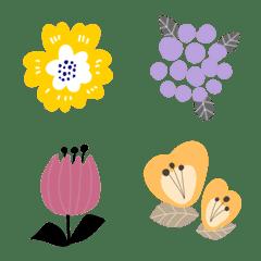 北欧風♡お花いっぱいの絵文字