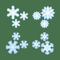 雪の結晶絵文字