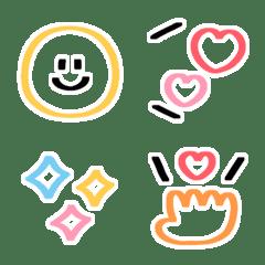 めっちゃシンプル♡マーカー絵文字2