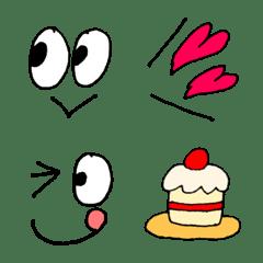 ボールペン♡使えるシンプルな絵文字2
