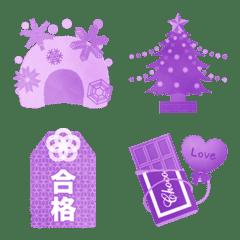 冬 - Purple monochromatic(紫系単色)-