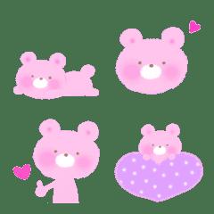 ピンクのくま♡かわいい絵文字