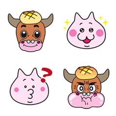 the MooMeow cow and cat Emoji
