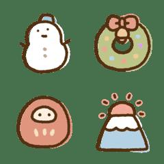 冬のゆる絵文字