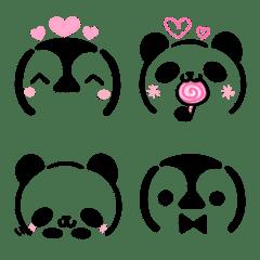 パンダとペンギンの顔文字風・絵文字