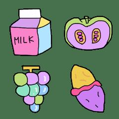 派手な食べ物絵文字