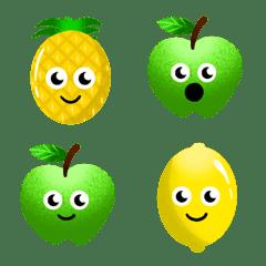 Handdrawn Tropical Fruit Emoji