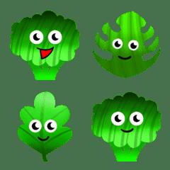 Cute Green Vegetable Emoji
