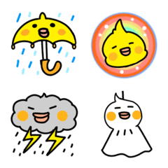 オカメインコお天気の絵文字