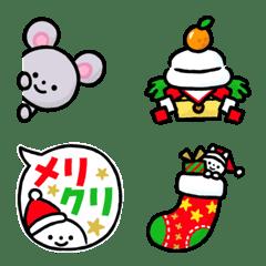 クリスマス&お正月!写真に貼れる絵文字