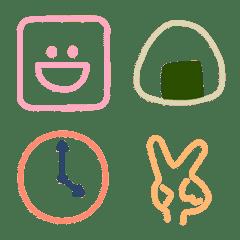 みんな❤が使えるかわいいシンプル絵文字2