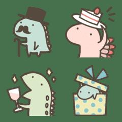 恐竜のいる毎日~冬絵文字