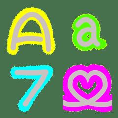 かわいい❤️ネオンデコ文字2  ABC編