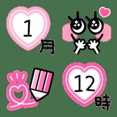 ピンク×ハート♡ネオンスケジュール♡2