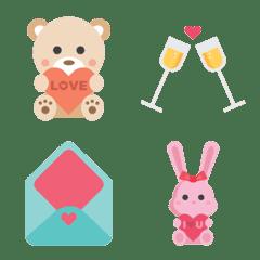 愛、デザート、カップルの絵文字