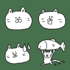 シンプルならくがきネコ(絵文字)