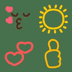 みんな❤が使える大人子供シンプル絵文字◆