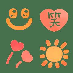 みんな❤が使えるシンプル水彩タッチ絵文字