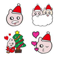 きら目のうさぎ/ 絵文字 No.5/クリスマス