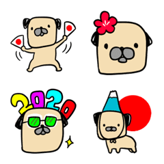 犬の絵文字(年末年始)