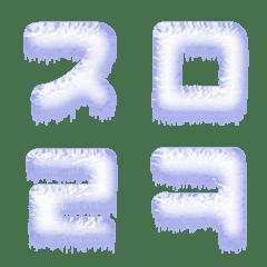 Freeze Snow (Hangul letters) Emoji Cute