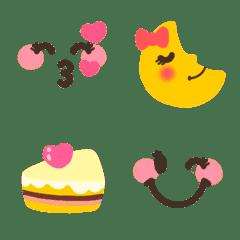 みんな❤カワイイ顔の人気シンプル絵文字☆