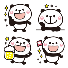 大人かわいい♡パンダの絵文字【全身】3